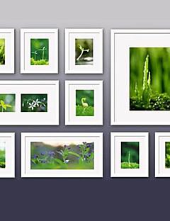 zeitgenössische Galerie weißen Wand Collage Bilderrahmen, 10er-Set