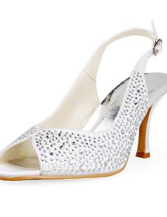 JASMIN - Sapato Dedo Aberto para Casamento Salto Stiletto em Cetim