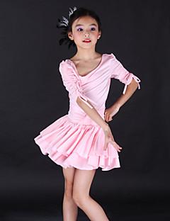 Roupas de Dança para Crianças Vestidos Crianças Treino Elastano Meia manga
