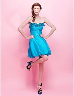 A-Lijn/Prinses - Cocktail Feestje/Sweet 16/Feest Jurk -met Blauw Strapless Korte broek / Mini Taf