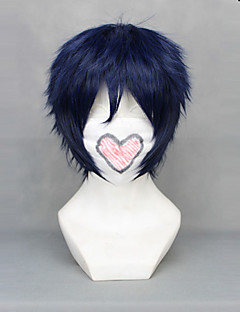 Cosplay Wigs Blue Exorcist Rin Okumura Blue Short Anime Cosplay Wigs 30 CM Heat Resistant Fiber Male