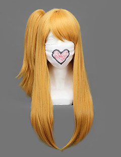 Cosplay Wigs Fairy Tail Lucy Heartfilia Golden Medium / Straight Anime Cosplay Wigs 60 CM Heat Resistant Fiber Female