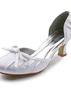 cetim superior fechada dos pés com sapatos de casamento / sapatos de noiva arco. mais cores disponíveis