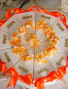 boîte orange faveur gâteau (jeu de 10)