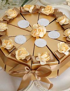 10 Stück / Set Geschenke Halter-Pyramide Perlenpapier Geschenkboxen
