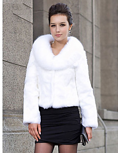 Shawl Collar Long Sleeve Rabbit Fur Evening/Wedding Jacket(More Colors)