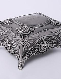 gepersonaliseerde vintage tutania rechthoek delicate sieraden doos