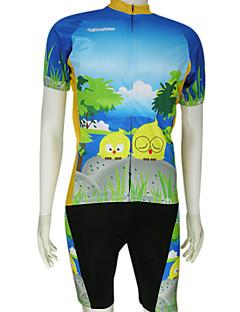 KOOPLUS® Camisa com Bermuda Bretelle Homens Manga Curta Moto Respirável / Secagem RápidaCamisa + Shorts / Camisa + Bermuda Bib /