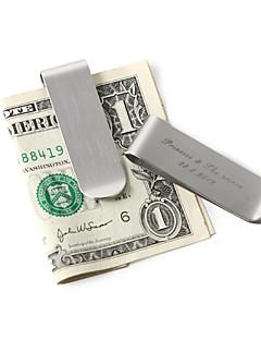 Couple Cadeaux Piece / Set Pince à billets Classique Mariage / Pendaison de crémaillère Inox Personnalisé Pince à billets ArgentBoîte à
