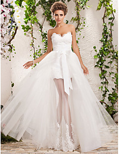 Lan Ting A-line/Princess Plus Sizes Wedding Dress - Ivory Floor-length Sweetheart Tulle