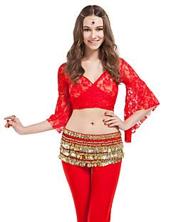 dancewear de poliéster con 338 monedas de oro del vientre bufanda cadera de baile para las damas más colores