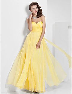 Formal Evening/Prom/Military Ball Dress - Daffodil A-line/Princess Sweetheart/Strapless Floor-length Chiffon