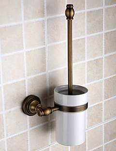 Antique Brass Finish Wall-mounted Toilet Brush Holder