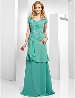 Formal Evening Dress - Jade Plus Sizes A-line/Princess Off-the-shoulder Floor-length Chiffon