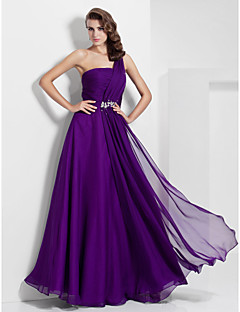 Formal Evening/Prom/Military Ball Dress - Grape A-line/Princess One Shoulder Floor-length Chiffon