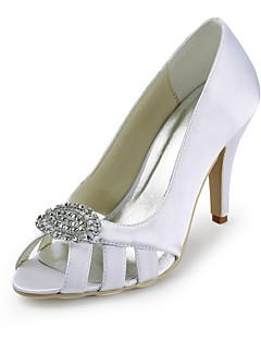 Wedding Shoes - Saltos - Peep Toe - Preto / Azul / Rosa / Vermelho / Marfim / Branco / Prateado - Feminino - Casamento