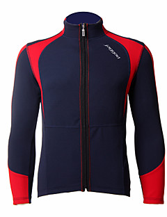 JAGGAD® ג'קט לרכיבה לגברים שרוול ארוך אופניים שמור על חום הגוף / עמיד / לביש ג'קט / צמרות פוליאסטר / Coolmax טלאים סתיו / חורףרכיבה על