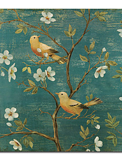 imprimé oiseau animal toile art floral avec cadre tendu