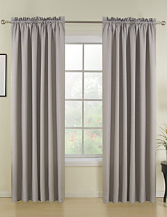 (Un panneau) classique gris solide rideau thermique