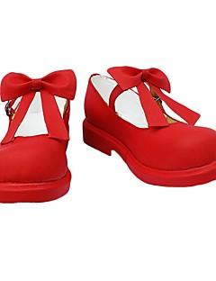 cosplay skor inspirerade av Cardcaptor Sakura-sakura kinomoto röd