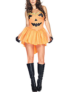Abóbora Sexy Adulto Enchanted Mulheres Halloween Costume (4pieces)