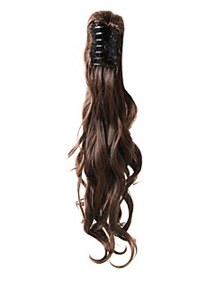 Claw Clip Chestnut Brown Long Curly Ponytails Hair Pieces-3 Colors Available