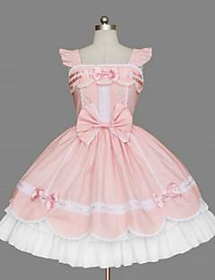 One-Piece/Dress Sweet Lolita Princess Cosplay Lolita Dress Bowknot Sleeveless Medium Length Dress For Cotton