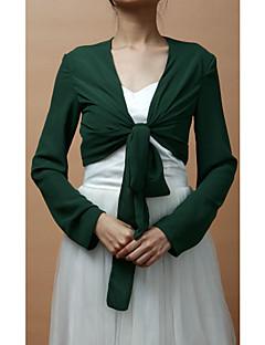 화려한 쉬폰 긴 소매 저녁 / 웨딩 저녁 재킷 (더 많은 색상) 볼레로 어깨를 으쓱