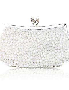Elegant Silk med Pearls Evening veske / Koblinger