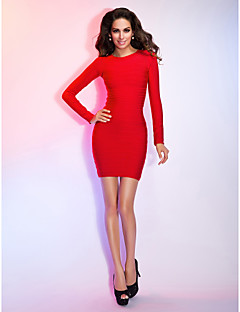 TS Couture® Cocktail Party / Holiday Dress - Ruby Petite Sheath/Column Jewel Short/Mini Rayon