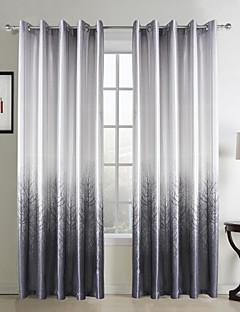 (Et panel grommet top) moderne grå skov print polyester energibesparelser gardin