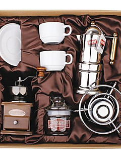 Coffee Series Boxed Gift (Moka & Siphon Pot, Grinder, Cups) T-007