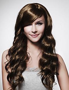 sin tapa larga peluca de pelo marrón rizado de 15 colores a elegir