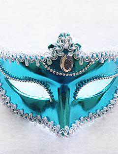 Blue Glitter Pure Color Plastic Half-Gesichtsmaske
