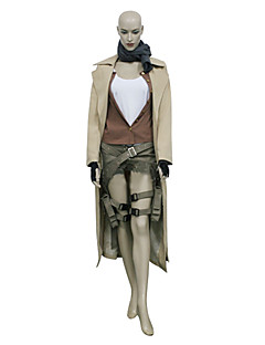 Inspired by Cosplay Alice Video Game Cosplay Costumes Cosplay Suits Solid Brown Long SleeveCoat / Vest / Blouse / Shorts / Scarf / Gloves