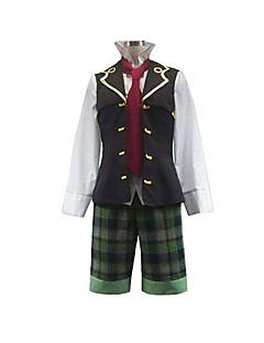 קיבל השראה מ Pandora Hearts Oz Vessalius אנימה תחפושות קוספליי חליפות קוספליי טלאים שרוול ארוך אפוד חולצה מכנסיים קצרים קשר עבור זכר