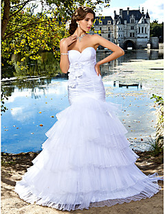 Lan Ting Trumpet/Mermaid Wedding Dress - Ivory Floor-length Sweetheart Satin/Organza