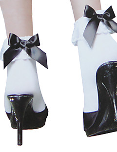 White Bow And Lacework Sweet Lolita Socks