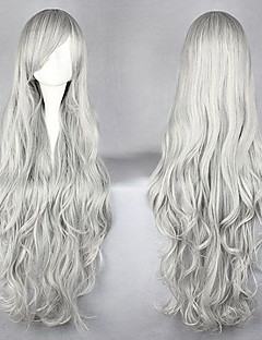 Cosplay Wigs Natsume Yuujinchou Cosplay Silver Long Anime Cosplay Wigs 95 CM Male / Female