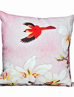 automne floral et taie d'oreiller décoratif oiseau