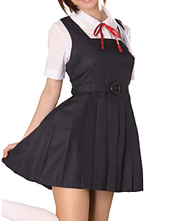 Cute Girl Black Polyester School Uniform (2 Pieces)