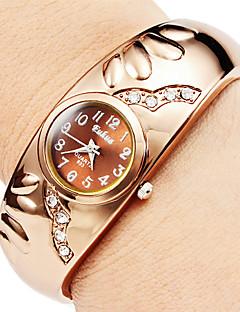 Damen Modeuhr Armband-Uhr Quartz Imitation Diamant Legierung Band Armreif Elegante Bronze Marke