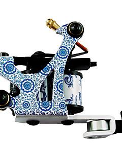 Blauw en wit porselein Tattoo Machine Gun Liner en shader