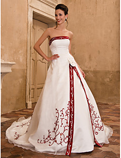 designer wedding dresses with color