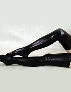 Shiny Metallic Black Long Stockings(2 Pieces)