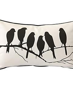 fåglar viskar print dekorativa örngott