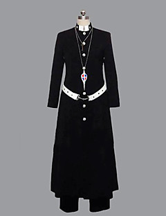 Inspired by Blue Exorcist Shirou Fujimoto Anime Cosplay Costumes Cosplay Suits Patchwork Black Long Sleeve Coat / Pants / Belt
