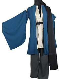 קיבל השראה מ נכדו של Nurarihyon Kubinashi אנימה תחפושות קוספליי חליפות קוספליי / קימונו אחיד כחול שרוולים ארוכיםמעיל / מעיל קימונו /