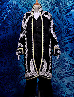 Inspired by Vocaloid Kaito Video Game Cosplay Costumes Cosplay Suits Jacquard Long Sleeve Coat / Vest / Shirt / Pants / Cravat / Gloves