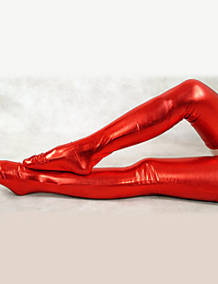 Red Shiny Metallic Stockings(2 Pieces)